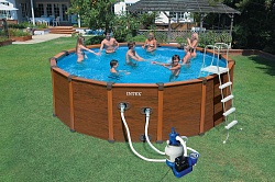 Каркасный бассейн Intex Sequoia Spirit Wood-Grain Pool 28382 (54972)  (478х124 см)