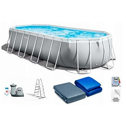 Каркасный бассейн Intex Prism Oval Frame Pool 610х305x122 см  26798